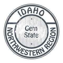 Idaho, Northwestern Region stamp, vector