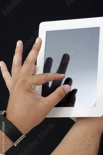 Tablet pc and zooming in a blank screen