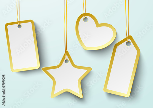 Golden Price Sticker Heart Star 2 PiAd