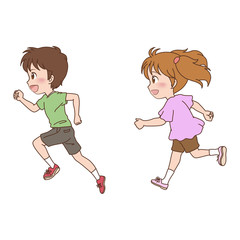 子供/走る