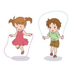 子供/なわとび