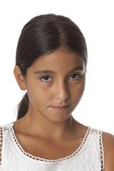Young timid teenage girl