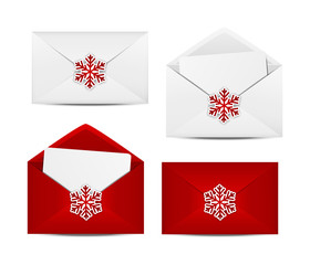 Set of Christmas envelopes