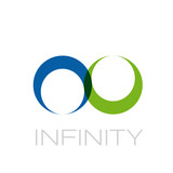 Vector Logo infinite. Green recycling