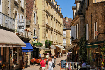 France, picturesque city of Sarlat la Caneda in Dordogne