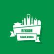 Riyadh ribbon banner