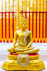golden  buddha   wat Phra That Doi Suthep,.chiangmai ,Thailand