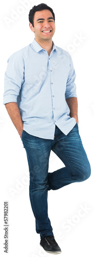 Smiling casual man standing