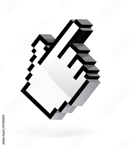 Hand arrow cursor