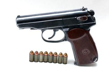 """Russian """"Makarov"""" police gun of 9 mm"""