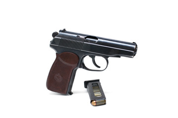 "Russian ""Makarov"" police gun of 9 mm"