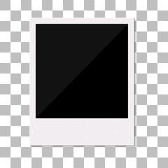 Blank retro polaroid photo frame.