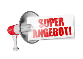Super Angebot! Button, Icon