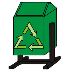 trashcan vector illustration