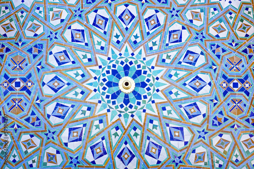 Oriental Mosaic at the Mosque Hassan II in Casablanca, Morocco