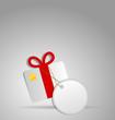 Geschenk mit Schild