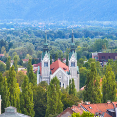 Trnovo church, Ljubljana, Slovenia.