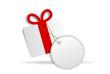 Geschenk mit Zettel