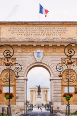 Arc de Triomphe, Montpellier, France.