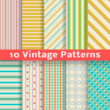 Fototapety Different vintage stripe vector seamless patterns (tiling).