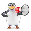 Penguin makes his self heard