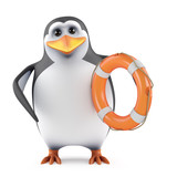 Penguin hands you a lifering