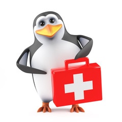 Penguin supplies first aid