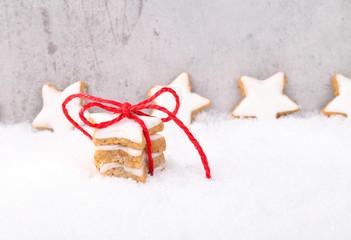 Zimtsterne, Weihnachtskarte