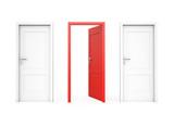 Opened red door , Oportunity