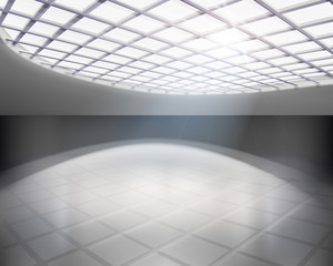 Empty hall. Vector illustration.
