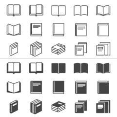Book thin icons, included normal and enable state.