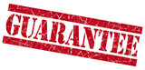Guarantee red grunge textured isolated stamp