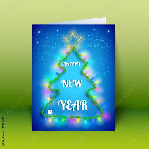 X-mas Greeting Card. Merry Christmas