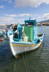In the Greek harbor