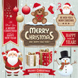 christmas and new year wishes elements