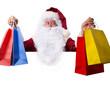 weihnachtsmann beim shoppen