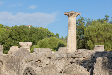 Olympia Greece ruins of Temple of Zeus