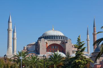 The museum Hagia Sophia in Istanbul Turkey