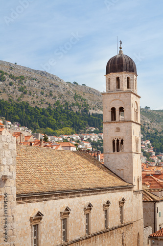 Dubrovnik Croatia clock tower and buildings