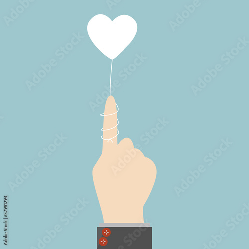 Rope heart with hand