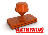 Rubber Stamp arthritis  (clipping path included) poster