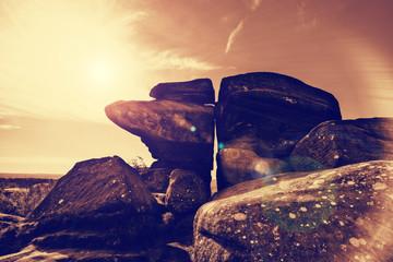 rocks sunflare