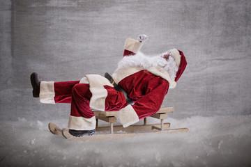 weihnachtsmann auf dem schlitten