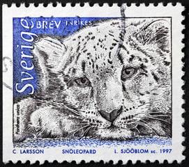 Snow Leopard Stamp