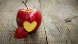 Fototapety Apple with engraved heart