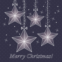 vector christmas card  with stars