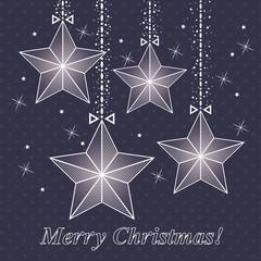 vector christmas card  with stars