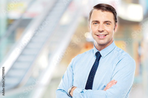 Confident male business executive