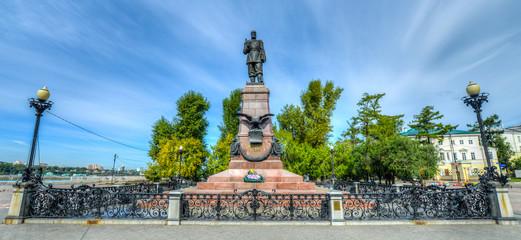 Monument to Emperor Alexander III in Irkutsk Russia