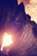 natural rock sun